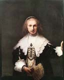 'Agatha Bas, Wife Of Nicolas Van Bambeek' by Rembrandt van Rijn