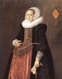 Portrait Anetta Hanemans by Frans Hals