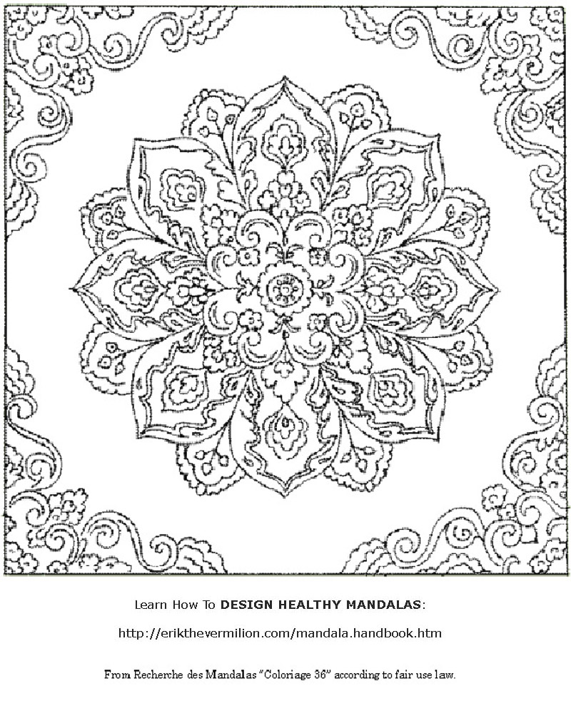 Free Mandalas to Print | Free Mandala Coloring Book Printable Pages
