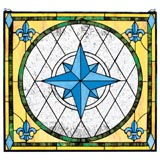 "Thumb ""Compass Rose Stained Glass Window"""