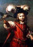 Boy With A Falcon And Leash by Jan Van Noordt