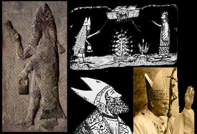 Pope's Hat of Fish Oannes Nommos & Dagon