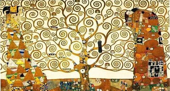 Abstract Painting Tree Of Life by Gustav Klimt
