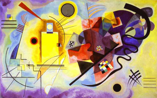 Abstract Painting Yellow Red Blue By Wassily Kandinsky